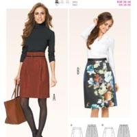 Burda Style 6836 - Semi Fitted Skirt